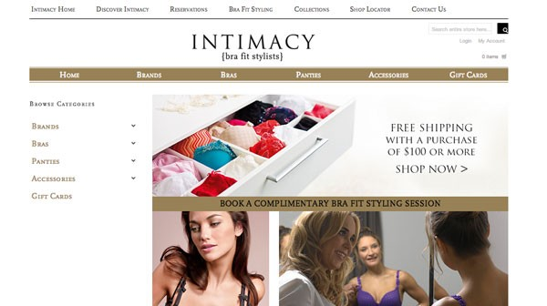 Intimacy Online Store